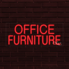 "Brand New ""Office Furniture"" 32x13X1 Inch Led Flex Indoor Sign 30158"