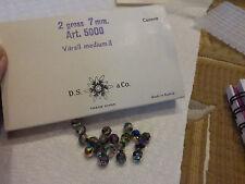 lot de  20 perles en cristal de Swarovski  vintage vitrail medium  diam 7 mm