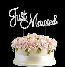 PIEDRAS IMITACIÓN JUST MARRIED Decoración Para Torta De Bodas Aniversario