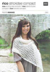 Knitting Pattern ~ Rico 065 for a lacy shawl using Rico Fashion Romance yarn