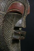 African Female KIFWEBE helmet mask - SONGYE tribe - DR Congo TRIBAL ART PRIMITIF