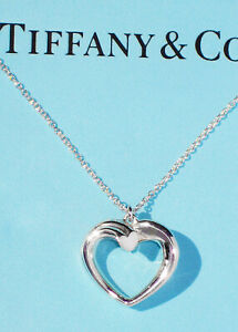 Tiffany & Co Sterling Silver Necklace Picasso MEDIUM Tenderness Heart Pendant