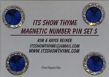 Competition number holder -  Magnet Number Pin  - 15MM Majestic Blue