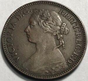 GREAT BRITAIN - Queen Victoria - Farthing - 1875H - KM-753 - Extra Fine +