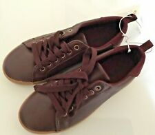 NWT Gymboree Unisex  Kids Old Skool Brown Faux Leather Shoes Size 1 And 2