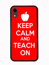 Keep Calm Teach on Red For Iphone XR 6.1 2018 Case
