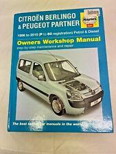 Haynes Manual - Citroen Berlingo & Peugeot Partner Petrol & Diesel: 1996 to 2010