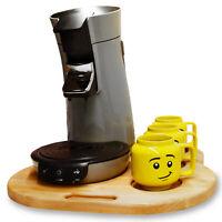 Gleitbrett mit Griffmulde & Tassenhalter für Senseo Viva Café Kaffeemaschinen.