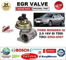 para FORD MONDEO III 2.0 16v DI TDDi TDCi 2002-2007 Eléctrico Válvula EGR 3