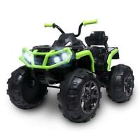 12V Kids Electric ATV Ride-On Toy Children Car w/ 2 Speeds, LED Lights, Sounds