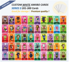 Series 3 Custom White NFC Amiibo Cards for Animal Crossing - 201 to 300