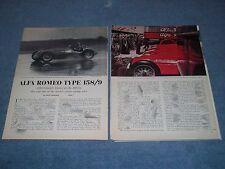 1938 Alfa Romeo Type 159/9 Vintage 2-Part Race Car History Info Article
