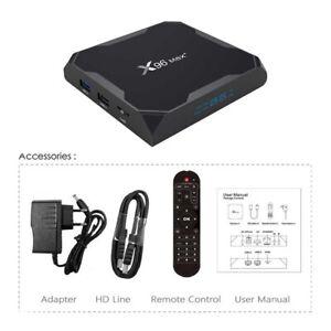 X96 MAX PLUS 4Gb/ RAM 64 GB ROM Android 10 Bluetooth 4.1 USB3.0 ONLINE STREAMING