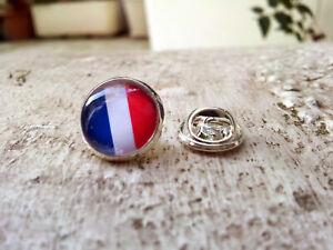 PIN'S METAL ARGENTé DRAPEAU FRANCE TRICOLOR PINS bouton épinglette