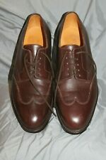 John Lobb Dallas Brown Leather Men's Size 8 E Wingtip Shoes