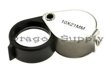 New 10X 21mm Jeweler's Eye Loupe Magnifying Glass Lens MJ382021