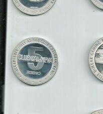 $5 1967 Sterling Silver Club Cal-Neva, Reno Gaming Slot Token Lqqk