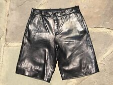 GIVENCHY LEATHER SHORTS / LEATHER PANTS / FLAT FRONT /  MEN / SZ Eu 50 / US 40