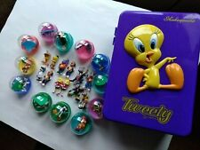 Looney Tunes Tweety Bird Purple Container And Other Looney Tunes Figures