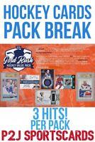Gold Rush 2019 VALUE HOCKEY CARD PACK BREAK 1 RANDOM TEAM Break 1252 NHL 3 HITS