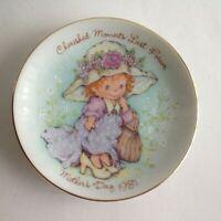 "CHERISHED MOMENTS Vintage 1981 Mother's Day 5"" Trinket Plate"