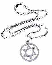 Étoile de David Pendentif Hexagramme Juif Acier Inoxydable Collier UK
