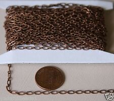 32ft spool Antiqued Copper Long and Short chain 4X2mm