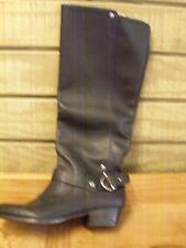 Nine West Cyri Black Boots 6 1/2 M New  Pull On Studs