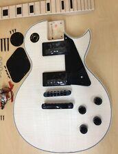 LP Electric Guitar DIY Kit,No-Soldering,All Maple Neck,Black Hardware 238DIY MB