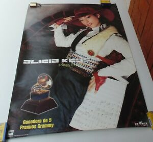 ALICIA KEYS ORIGINAL SONGS IN MINOR POSTER SONY MUSIC COLOMBIA 2001
