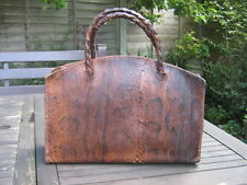 FABULOUS CATWALK ART DECO VINTAGE ANTIQUE REAL PYTHON LEATHER BAG SO HERMES