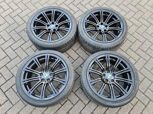 "Genuine BMW M3 19"" Black Forged Alloy Wheels + Tyres 220m - E90 E92 E93"