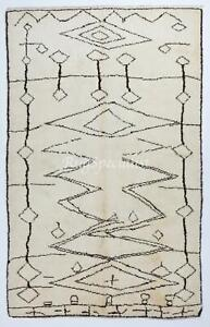 Contemporary Moroccan Berber Rug Made of Natural Undyed Wool