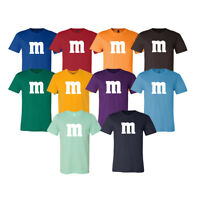 M & M Halloween Costume M and M Group Costumes Tee Unisex T Shirt Tee New