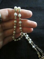 VINTAGE 14K YELLOW GOLD FINDINGS AND PEARL NECKLACE