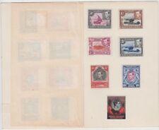 Stamps 1937 Kenya Uganda Tanzania various KGV1 issues in presentation folder