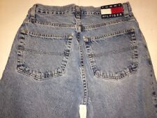 Vintage TOMMY HILFIGER Mens 31 X 32 Flag Spellout Relaxed Straight