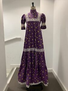Vintage Late 1960s laura ashley prairie dress Uk 10