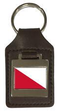 Leather Keyring  Engraved Utrecht City Netherlands Flag