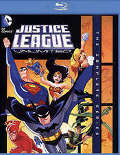 Justice League Unlimited: The Complete Series (Blu-ray Disc, 2015, 3-Disc Set)