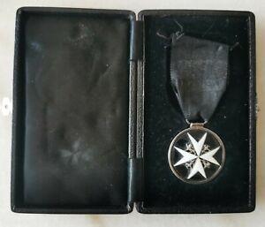 Boxed 1933 Serving Member Of The Order Of St. John NAMED Breast Badge Medal