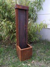 Cortenstahl Garten Brunnen Edelrost Garten Wasserspiele H80*20*20cm Ohne Pumpe