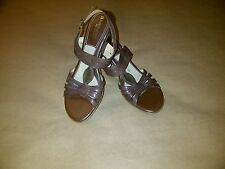 Naturalizer N5 Comfort Leather Heels Sandals Strap Shoes Women's Brown 9.5 N