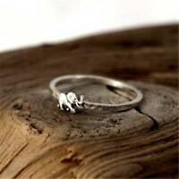 Women Men 925 Silver Animal Elephant Ring Christmas Gifts Vintage Jewelry Sz6-10