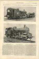 1900 Compound Locomotive Southern Railways Of Italy 3701