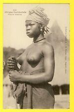 cpa AFRICA ETHNIC NUDE Afrique Occidentale JEUNE FEMME SOUSSOU Jolie POITRINE