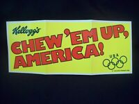 Vintage Kellogg's Advertising Olympic Games Chew 'Em Up America! circa 1980s