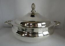 Eates Silverplated Round Covered Casserole (fits a 3 qt. Pyrex)