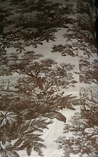 POTTERY BARN Brown Matine Toile 1/2  King Duvet ~ Material For Projects? EC