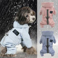 Puppy Dog Raincoats Waterproof with Harness Hole Legs Jumpsuit Pet Rain Jacket